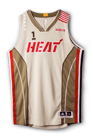 best authentic e6348 dc2f0 Miami Heat Jersey History - Jersey Museum