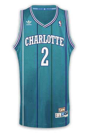buy online 23ca2 5faaf Charlotte Hornets Jersey History - Jersey Museum