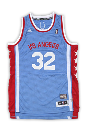 a0330b44f ... Star s jerseys and featured vertical columns of stars on each side of  the jersey. The Stars played in LA from 1968-1970 and then moved to Utah  before ...